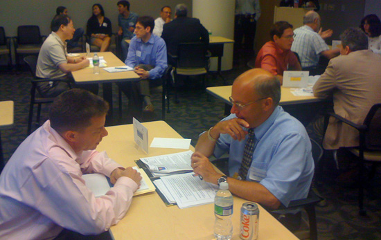 Participants at the inaugural Johns Hopkins Medicine Entrepreneurial Speed-Dating event.