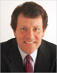 New York Times' columnist Nicholas Kristof talks on Tuesday